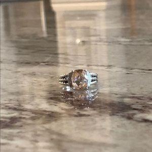 David Yurman Petite Wheaton Morganite Ring